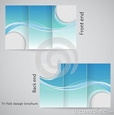 Tri-fold brochure design.