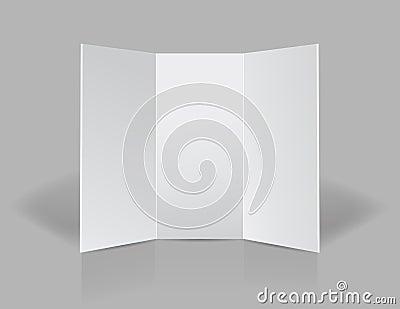 Tri fold presentation blank leaflet