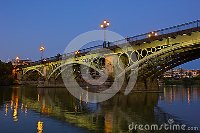 Triana Bridge, the oldest bridge of Seville