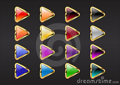 Triangle arrow buttons