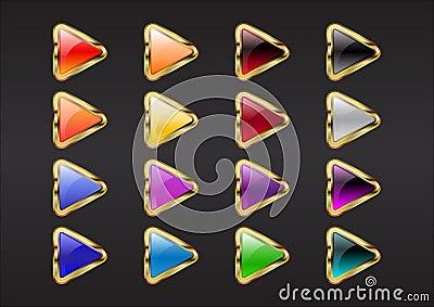Triangle arrow buttons