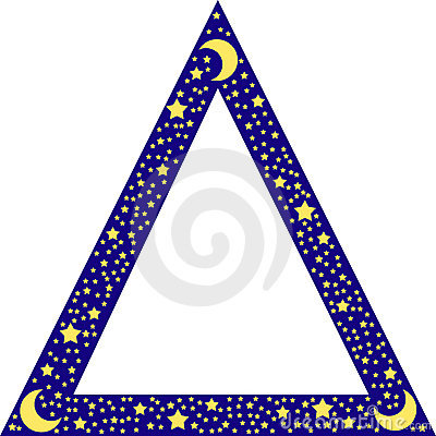 Free Triangle Border With Stars Royalty Free Stock Image - 4905036