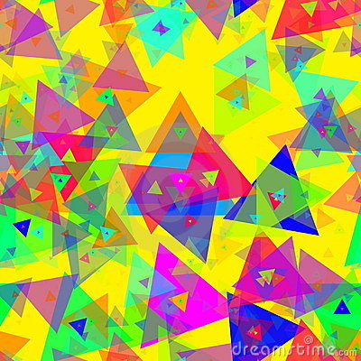 Triangle celebration colorful confetti