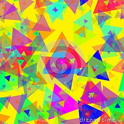 Triangle celebration colorful confetti