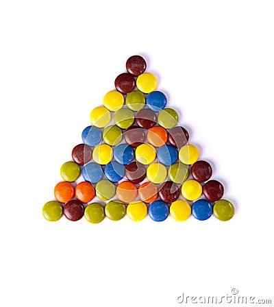 Triangle of colorfu