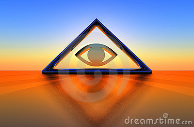 Triangle and eye