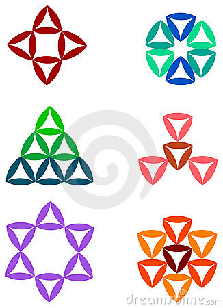 Triangle logo set