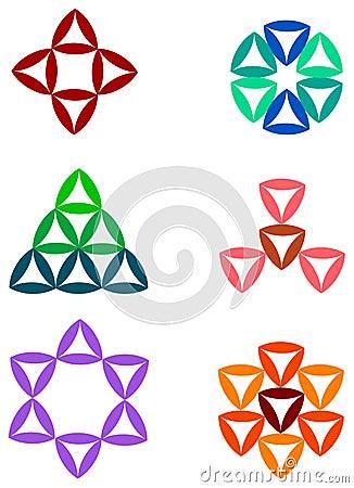 Triangle logo set