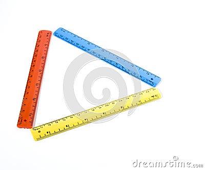 Triangle in rulers