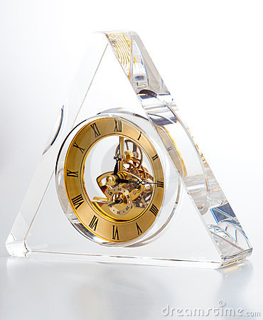 Triangle shape transparent clock