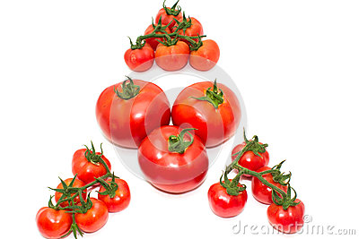 A triangle with tomatos
