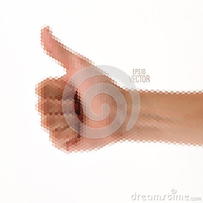Triangle vector gesture hand