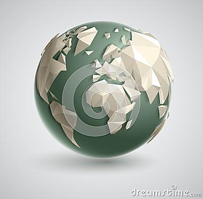 Triangle World Globe