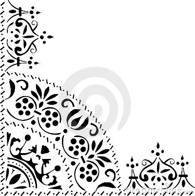 Triangular black ornament
