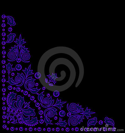 Triangular blue decoration