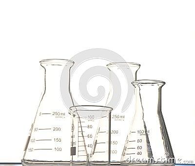 triangular flask and  beaker