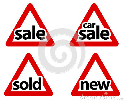 Triangular Road Sale Signs