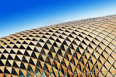 Triangular shades on roof