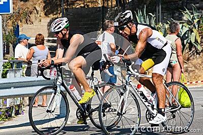 Triathletes. Sportsmen. TRIATHLON Editorial Photo