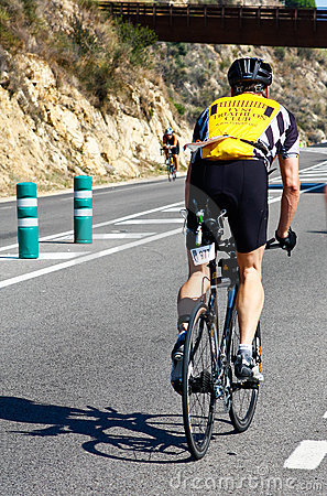 Triathlon спортсмена Редакционное Фото