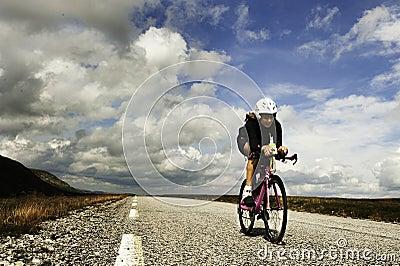 Triathlon Redaktionell Arkivfoto