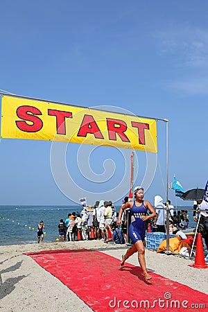 Triathlon Imagem Editorial