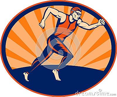 Triathlon athelte runner running
