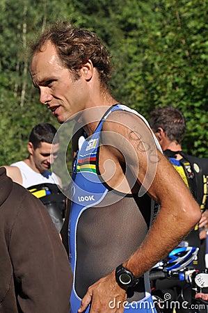 Triathlon, Julien Loy. Editorial Stock Photo