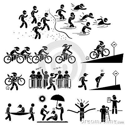 Free Triathlon Marathon Swimming Cycling Running Royalty Free Stock Photography - 34318507