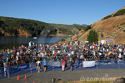Triathlon race area Editorial Image
