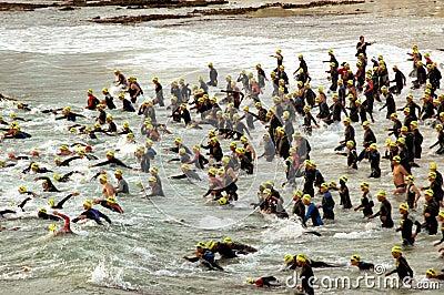 Triathlon start Editorial Photography