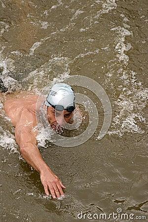 Triathlon swimmer Editorial Photo