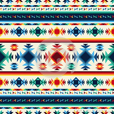 Free Tribal Abstract Seamless Pattern Aztec Geometric Royalty Free Stock Image - 51194346