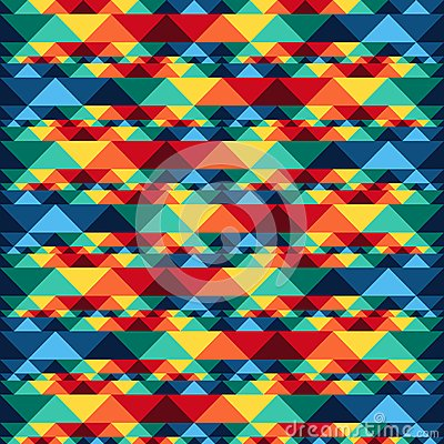 Free Tribal Abstract Seamless Pattern Aztec Geometric Stock Images - 51194774