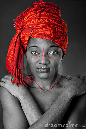 Free Tribal African Woman With Headwrap Stock Photos - 10477833