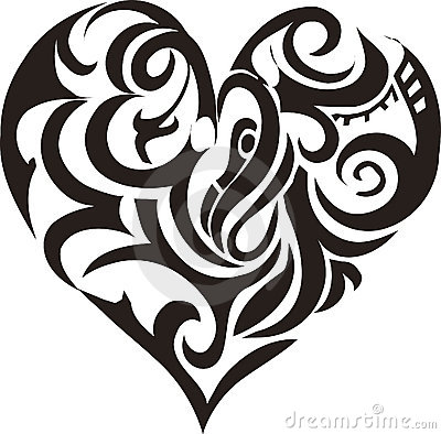 Free Tribal Art Heart Royalty Free Stock Photo - 872835