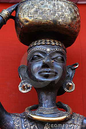 Tribal art,model of a tribal woman