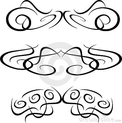 Tribal Artwork tattoo Collection element isolated