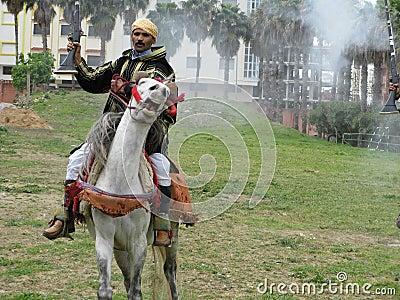 Tribal  Bedouin warrior Editorial Stock Image