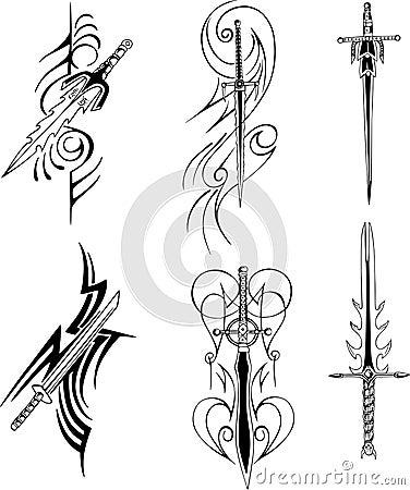 tribal blade designs stock photos image 24741463. Black Bedroom Furniture Sets. Home Design Ideas
