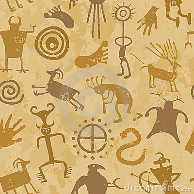 Free Tribal Cave Painting Royalty Free Stock Images - 7769089