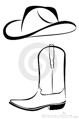 Tribal Cowboy Hat And Boot Royalty Free Stock Image ...