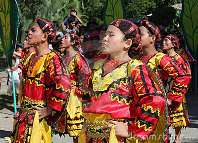 Tribal dancing singing Philippines Editorial Photography