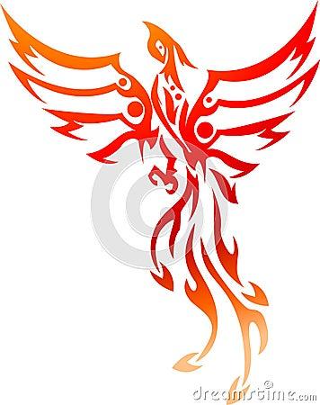 tribal de tatouage de phoenix image libre de droits. Black Bedroom Furniture Sets. Home Design Ideas