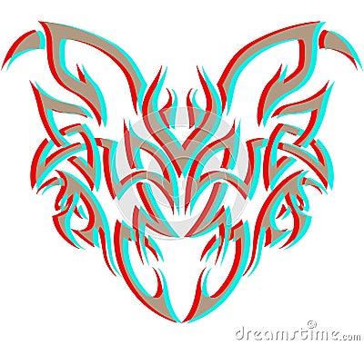Tribal Demon in 3D