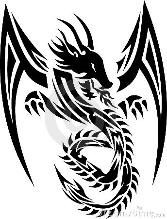 Free Tribal Dragon 01 Stock Image - 15996581