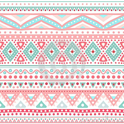 Tribal ethnic seamless stripe pattern. Vector