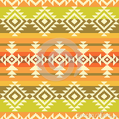 Tribal geometric striped pattern