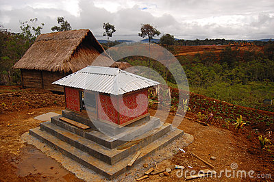 Tribal grave in village at highlands