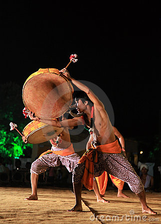 Tribal indian dance show Editorial Stock Image